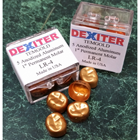 Dexiter #4 Lower Left 1st Molar Gold Anodized Temporary Crown Form 5/Pk. *Comparable to 3M. Made