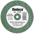 Dedeco Lathe Wheels Acrylic Base Plate, Coarse Fubber-Bonded Wheel for Fast, Clog-Free (5138)