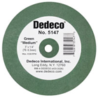 Dedeco Lathe Wheels Green Medium, Rubber-Bonded Wheel for Rapidly Removing Scratches (5147)