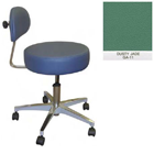 Galaxy Doctor's Stool-Round Seat with Comfortable Back Support - Dusty Jade Color. 16