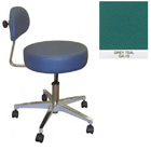Galaxy Doctor's Stool-Round Seat with Comfortable Back Support - Grey Teal Color. 16