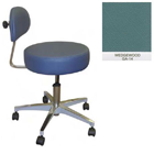 Galaxy Doctor's Stool-Round Seat with Comfortable Back Support - Wedgewood Color. 16