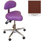 Galaxy Hygienist Stool with Back Support - Desert Rose Color. With 2-way adjustable height