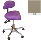 Galaxy Hygienist Stool with Back Support - Taupe Color. With 2-way adjustable height and back tilt