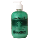 AloeGuard Antimicrobial Soap with Aloe Vera and Chloroxylenol, 18 oz. Pump Bottle
