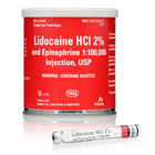 ODS Lidocaine HCL 2% with Epinephrine 1:100,000 Local Anesthetic, Box of 50 - 1.7 mL Cartridges