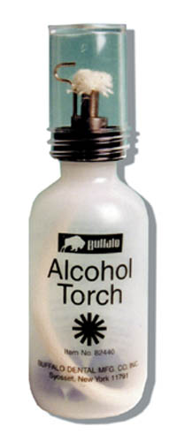 Buffalo Dental Alcohol Torch. Torch That Produces a Needle-point Flame with only a Gentle Squeeze