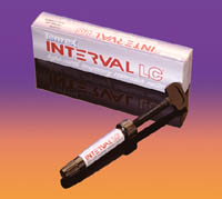 Interval LC Interval LC, light cured temporary restorative material. single 4.5 gram syringe