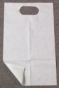"""Encore White Standard Slipover Adult Patient Bips, 18"""" x 30"""", 2 ply Tissue/Poly, Case of 150 Bibs"""