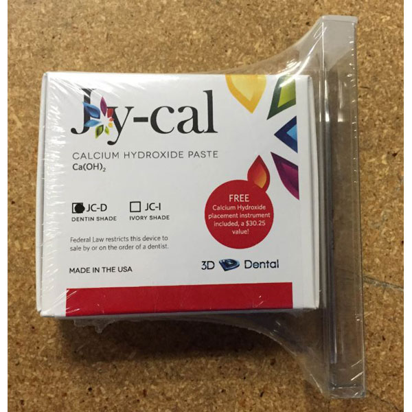 House Brand Joy-Cal Cavity Liner - DENTIN shade, 8 Gm. Syringe and Free Cavity Liner Instrument