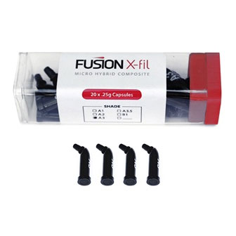 Fusion X-Fil Micro Hybrid Composite Capsules - A3.5 shade, 20 x .25gm Capsules. Excellent handling
