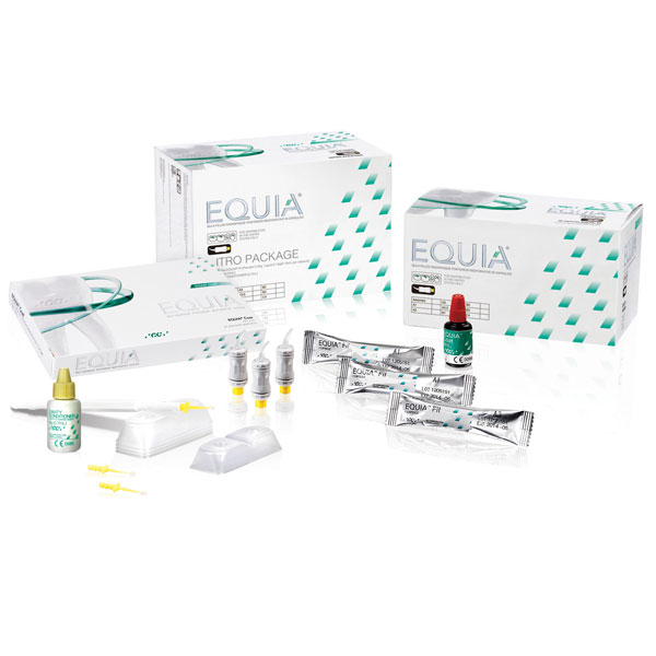 Equia Forte Fil A1 Intro Kit: 48 Capsules, 1 Coat bottle (4 mL), 1 GC Cavity Conditioner bottle