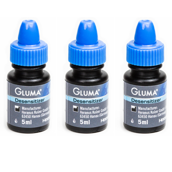 Gluma Desensitizer Liquid, Clinic Pack: 3 - 5 mL Bottles. #66018221