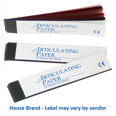 House Brand Articulating Papers Straight, Blue/Red, Box of 12 books
