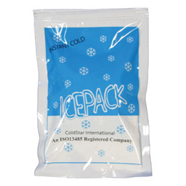 """Jack Frost Single-Use Cold Pack 24/Pk. 6"""" x 8-3/4"""" Medium, Non-Insulated Instant Cold Pack"""
