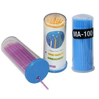 House Brand Microbrush Applicators - Regular tips, Blue. 400 applicators (4 x 100)