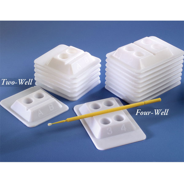 Bondwell 2-Well Disposable Mixing Wells - WHITE 500/Bx
