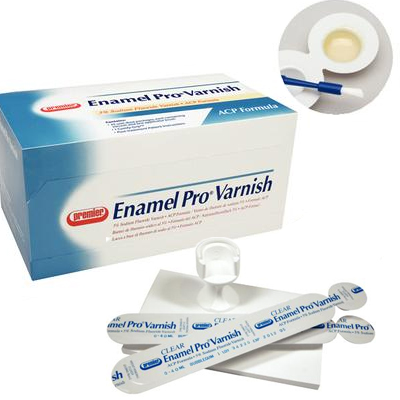 Enamel Pro Varnish Strawberries n' Cream 0.40 ml 35/Bx. Clear, 5% Sodium Fluoride with ACP