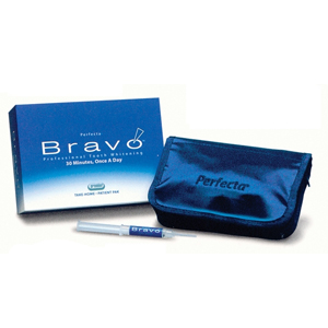 Perfecta Bravo Patient Pak. 30-minute once-a-day Tooth Whitening system, 9% hydrogen peroxide gel