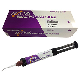 Activa Bioactive Base/Liner SINGLE Pack. First dental base/liner with a bioactive resin matrix