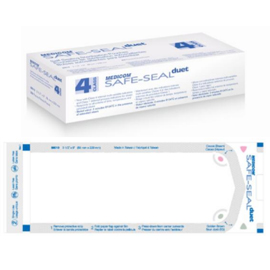 "Safe-Seal Duet 3.50"" x 5.25"" Self-Sealing Paper/Clear Film Sterilization Pouches with Lead Free"