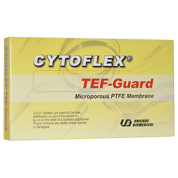 Cytoflex TEF-guard Non-Resorbable Barrier Membrane 12 mm x 24 mm, 1/Pk. Composed of a proprietary
