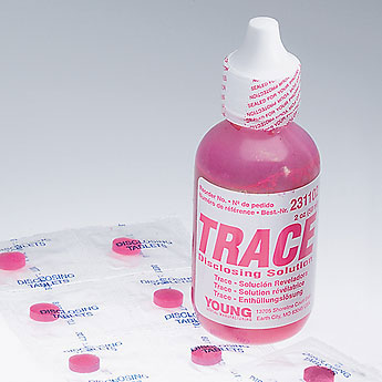 Trace Disclosing Solution, 2 oz. (60 ml) Bottle. Concentrated, fast acting solution for disclosing