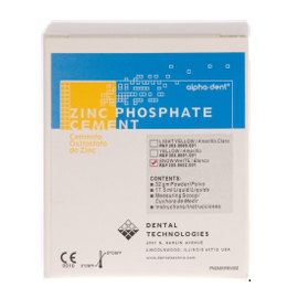 Alpha-Dent Zinc phosphate cement, white shade kit. A very high strength permanent cement