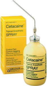 flavored lidocaine spray