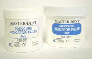 Master-Dent Pressure Indicator Paste, 2.25 oz. Jar