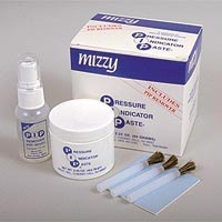 PIP Mizzy 1.25 oz. Jar. White Silicone Pressure Indicator Paste, adheres to dentures and partials