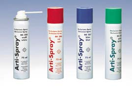Arti-Spray WHITE Occlusion Spray. Universal color indicator to test the occlusal contacts