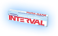 Interval self-cure temporary filling material with syringe delivery system, contains: precision