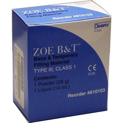 Zoe B & T Zoe B and T self-cure zinc oxide eugenol temporary filling material, 25 gram of powder