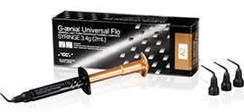 G-aenial Universal Flo A2 Refill. Flowable Composite. Handles like a low-flow flowable
