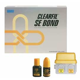 Clearfil SE Bond Light-Cure Dental Adhesive System. Kit: 6 mL Primer, 5 mL Bond, 2 Brush Holders
