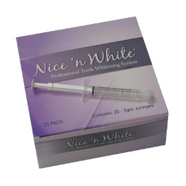 Nice-n-White 22% Carbamide Peroxide Whitening Gel - 25 Syringe Pack. Specially designed