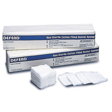 "Defend 2"" x 2"" 4 ply Non-Sterile Non-Woven 32 gram weight Rayon/Polyester Sponge, Provides maximum"
