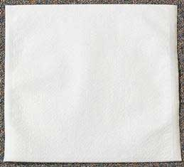 "Tidi 10"" x 10"" White Tissue/Poly Headrest Covers, Box of 500"