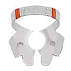 Ivory Clamps #3 Winged Flat Jawed, Small Molar Metal Rubber Dam Clamp, Single clamp