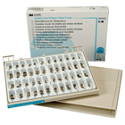 3M ESPE Assorted Primary Molar Stainless Steel crown forms, Complete Kit: set of 96 crowns. These