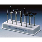 Shofu Dental Porcelain Adjustment Kit HP - Plastic, Package of 3 Dura-White stones for adjusting