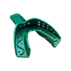 Spacer Trays #22D Small Green Perforated Lower Full-Arch Plastic Impression Tray, Zig-Zag (250226)