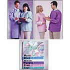 Maytex Lab Jackets Disposable Lab Jackets - White Medium, Latex-Free Knit Cuff and Collar, 3