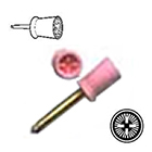 AllPro Prophy Cups - 144/pk Ribbed and Webbed, Latch Mandrel Soft Pink Prophy Cup, Strawberry
