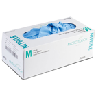 Micro-Touch Nitrile Nitrile Exam Gloves: SMALL 200/Bx. Powder-Free, Textured Fingertips, Blue
