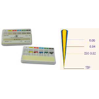 HTM ISO standardized #20, Taper 0.04 White Absorbent Paper Points, Hand Rolled, Package of 120