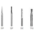 Abbott-Robinson 31P Taper Fissure Dual Cut Tungsten Carbide HP Burs, Regular Cut, single bur