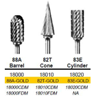 Abbott-Robinson 88A Barrel Cone Dual Cut Tungsten Carbide HP Burs, Regular Cut, single bur