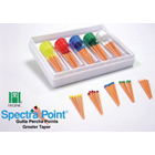 SpectraPoint #25, .06 Greater Taper Gutta Percha Point. Box of 60 Points